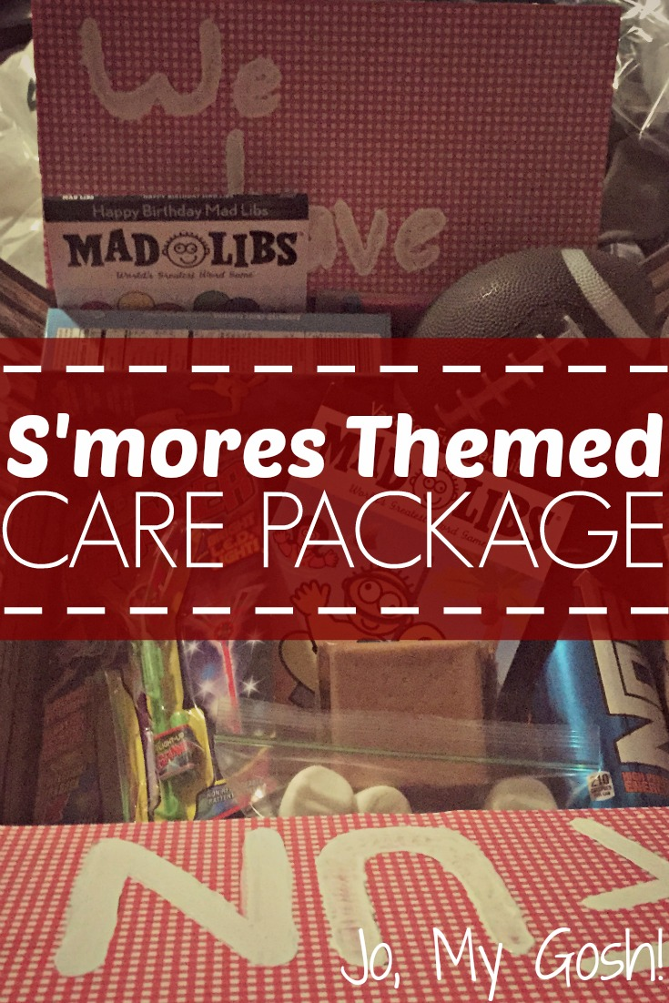 Smores care package-- great summer theme! #military #milso #milspouse