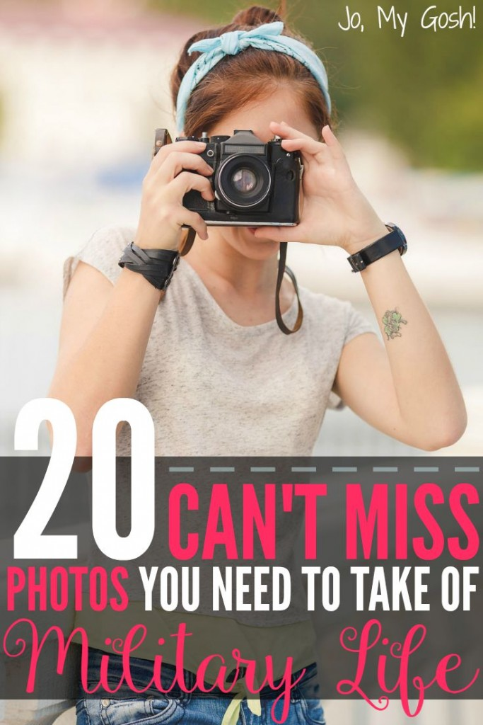 Love this list of photos you can't miss when you're a milspouse.