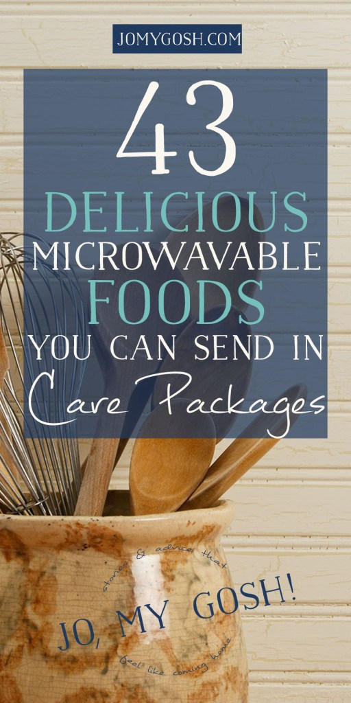 <3 this list of microwavable foods that can be sent in care packages and easily prepared-- just hot water or a microwave needed. deployment, missionary, college