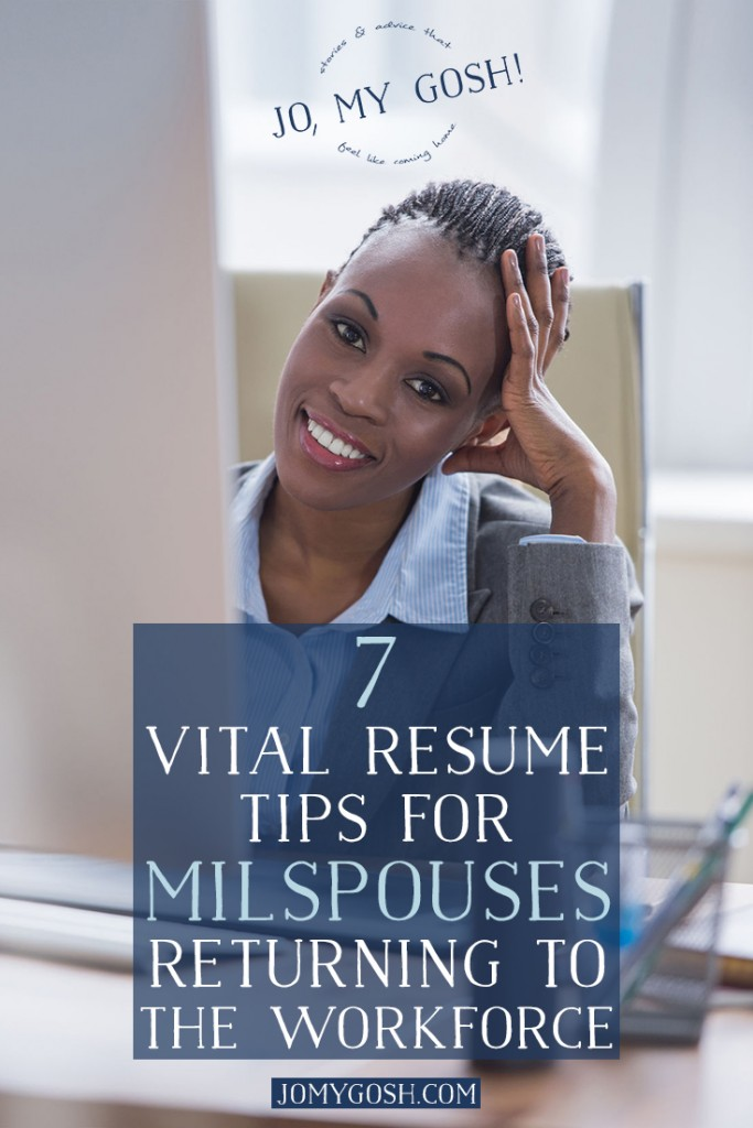 Can't wait to use these resume tips! milspouse, milso