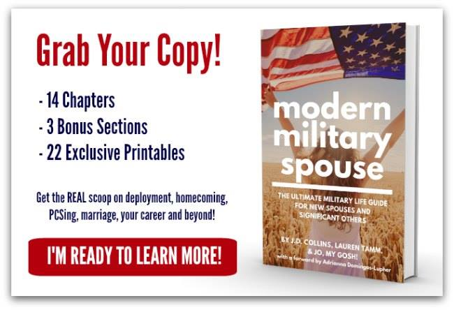 A handguide/book written for military spouses, by military spouses.