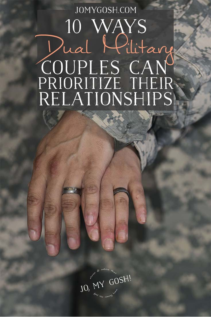 Being married to another service member isn't always easy, but there are ways to make dual military relationships work.