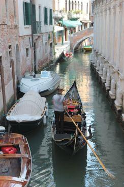 The gondolas, Venice.
