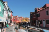The main canal of Burano, Venice.