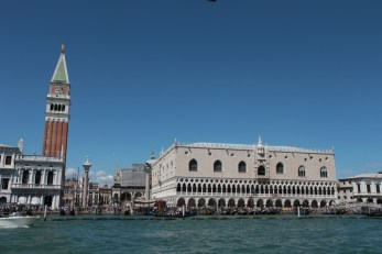 Doge Palace and wonky tower, Venice.
