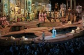 Puccini's Turandot, in full flight. Verona Arena, Italy.