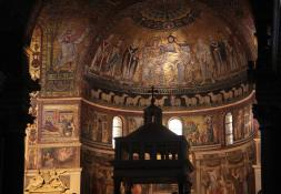 Mosaics by Cavallini in the Santa Maria in Trastevere.