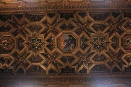 Gilded ceiling of Santa Maria in Trastevere.