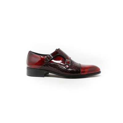 shiny red shoes for men