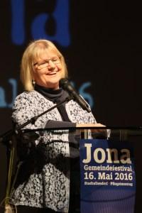 Elke Werner predigt bei Jona (Sören-Helge Zaschke)