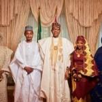 President Buhari At His Grand daughter's Wedding