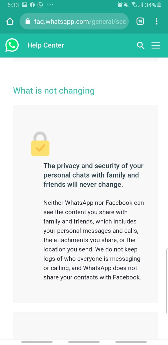 WhatsApp New Terms Of Service And Privacy Policy