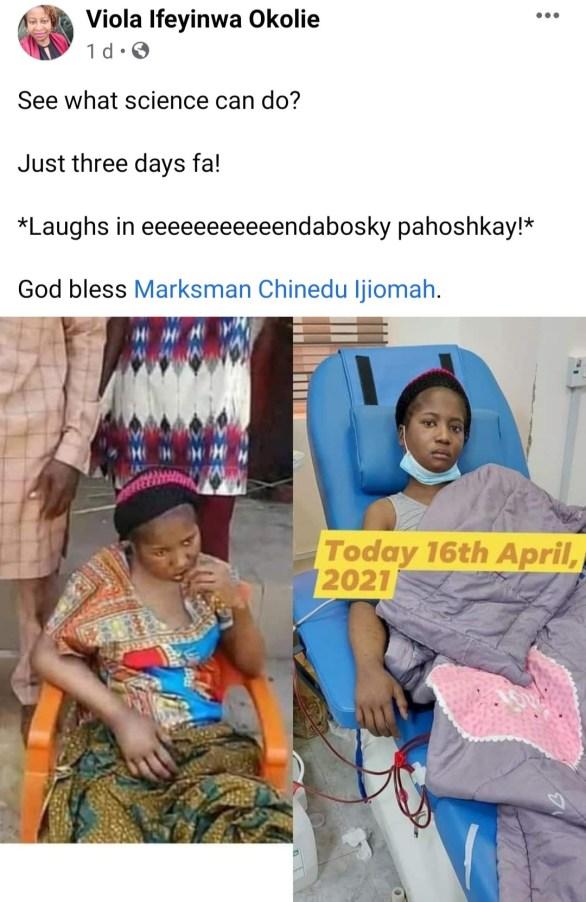 Odumeje Forgives Ada Jesus. Gives Family 1Million Naira