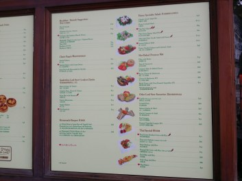 The menu to serve as your guide.