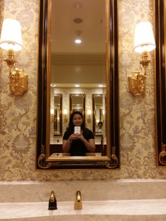 Sorry, I got carried away by the lavishness and intricacies of the restroom.