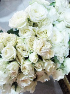 Petals used were from ordinary white roses.