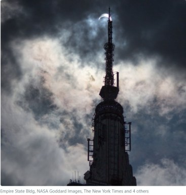 NASA Empire State Building 8.21.17 Eclipse