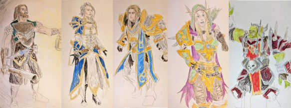 Various characters from the Warcraft universe