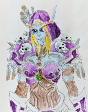 Sylvanas from Warcraft. An originally scrapped drawing that I didn't like, but finished anyway