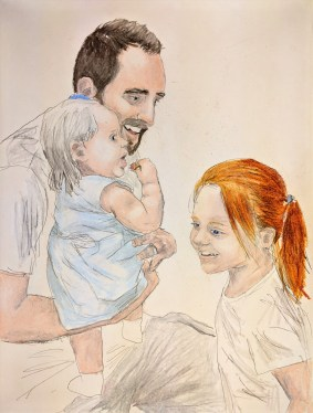 Dad and Two Daughters