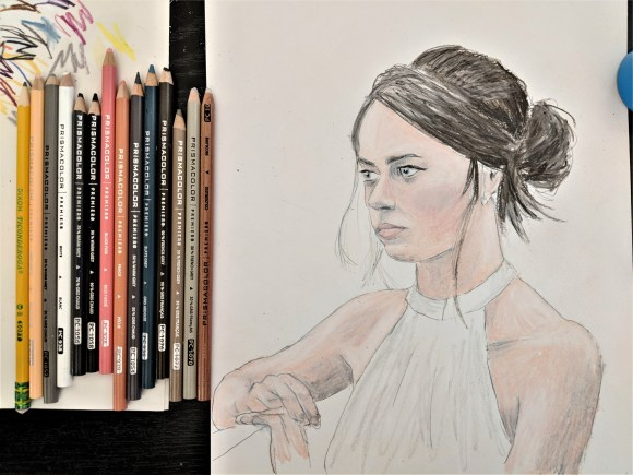 Drawing Process - Final Step (with Materials Used)