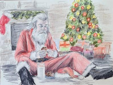 Amdall-Santa-Eating-Cookies