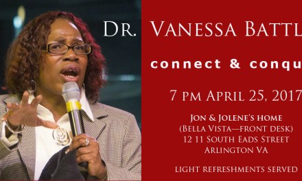 Announcing Vanessa Battle! Join Us Tuesday in DC