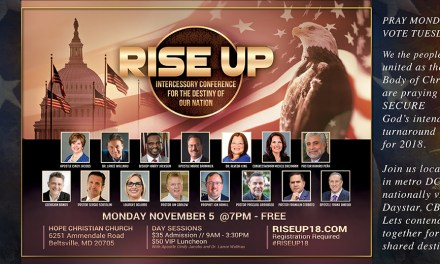 RISE UP Monday! Vote Tuesday! Stand for National Turnaround