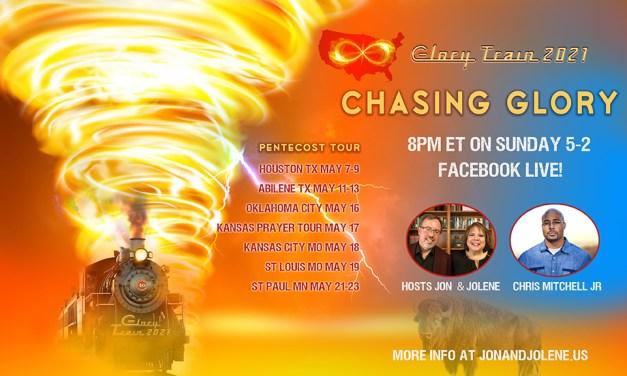 FB LIVE 8pm SUNDAY WITH CHRIS MITCHELL, LORI PERZ—CHASING GLORY!