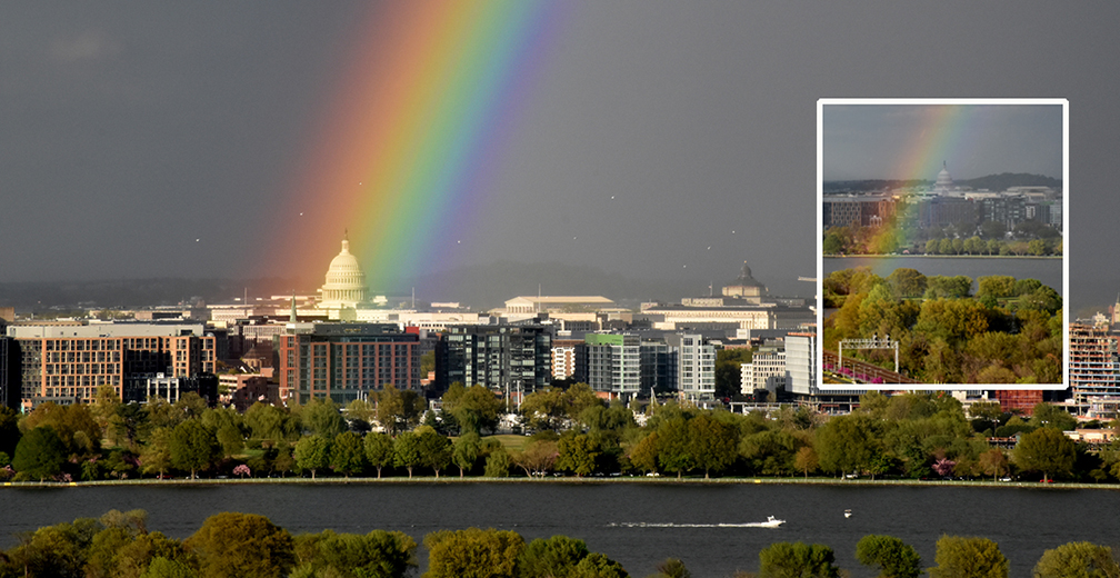 DRAMATIC PHOTO! Rainbow Over Capitol—What is God Saying?