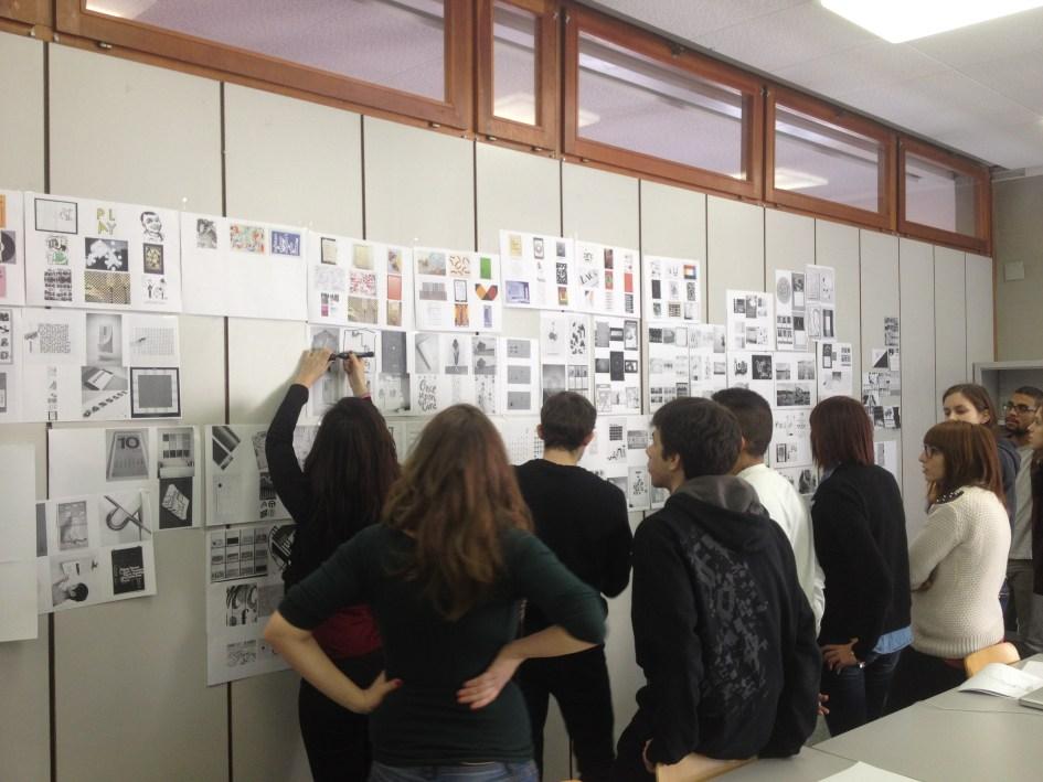 Jonas Berthod giving a workshop at SUPSI