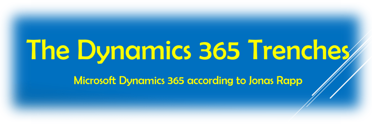 The Dynamics 365 Trenches