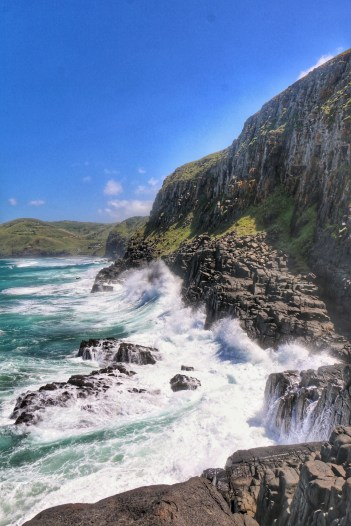 huge cliff and big swell