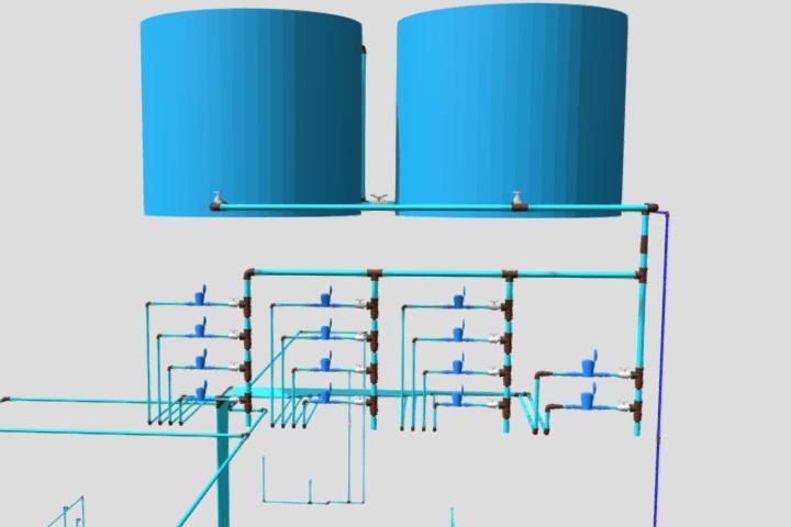 Projeto hidráulico em BIM