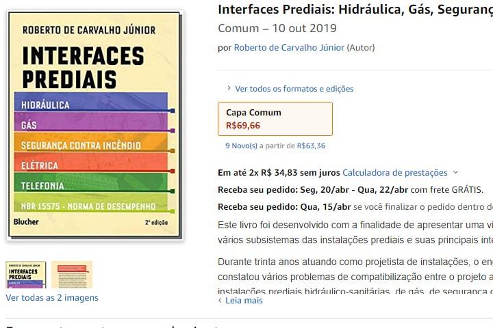 indicação do livro interfaces prediais