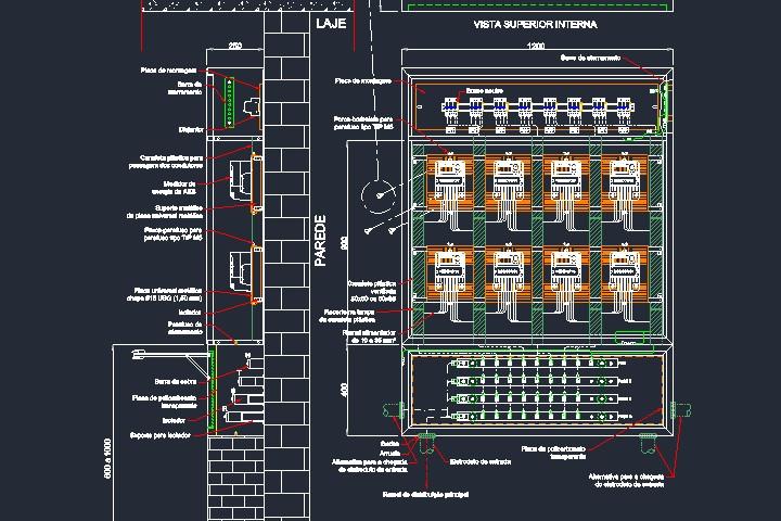 Caixa tipo M padrão Enel Eletropaulo