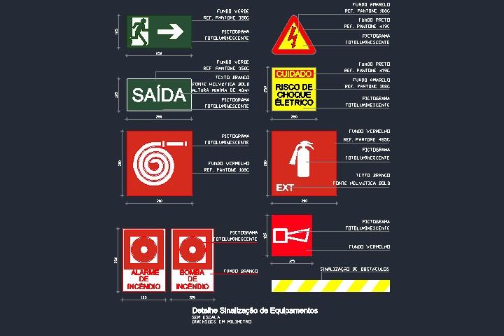 símbolos gráficos para projeto de segurança contra incêndio dwg