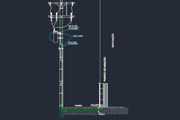 Padrão Elektro com ramal de ligação subterrâneo