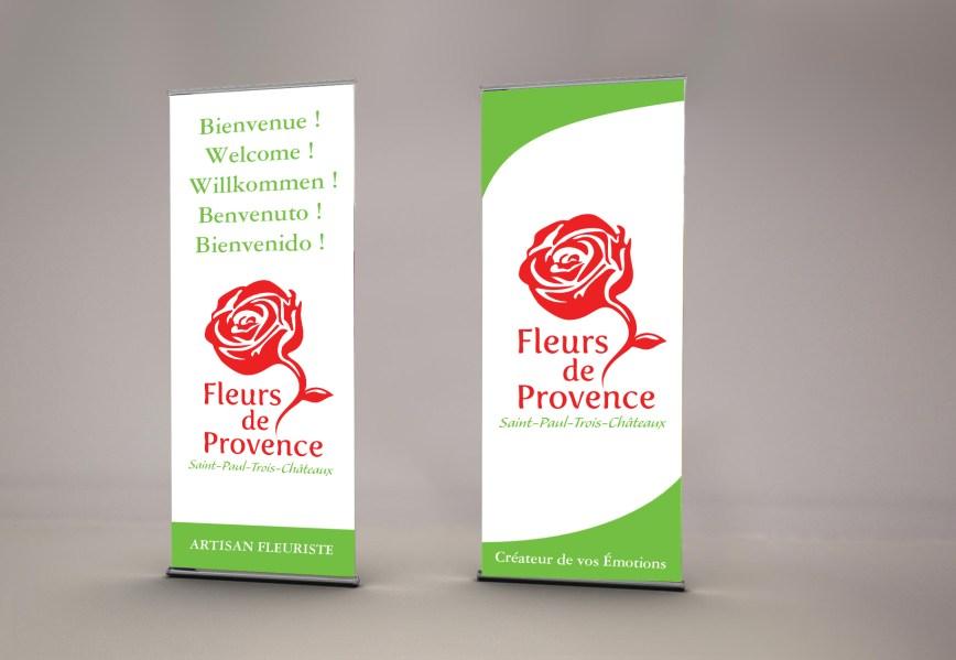 Roll-up Fleurs de Provence