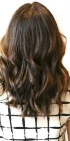 brunette with subtle highlights