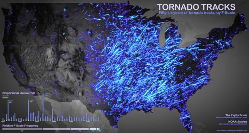 Tornado Tracks (map)