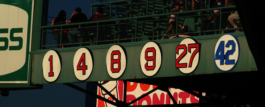 Retired numbers at Fenway Park
