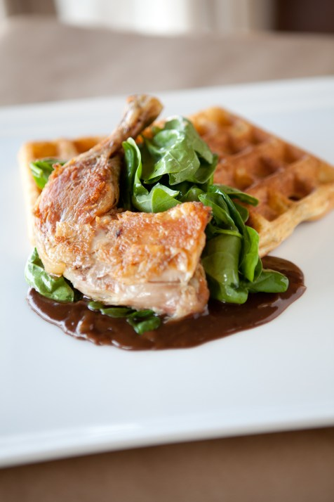 Chicken and Waffles at Home Wine Kitchen