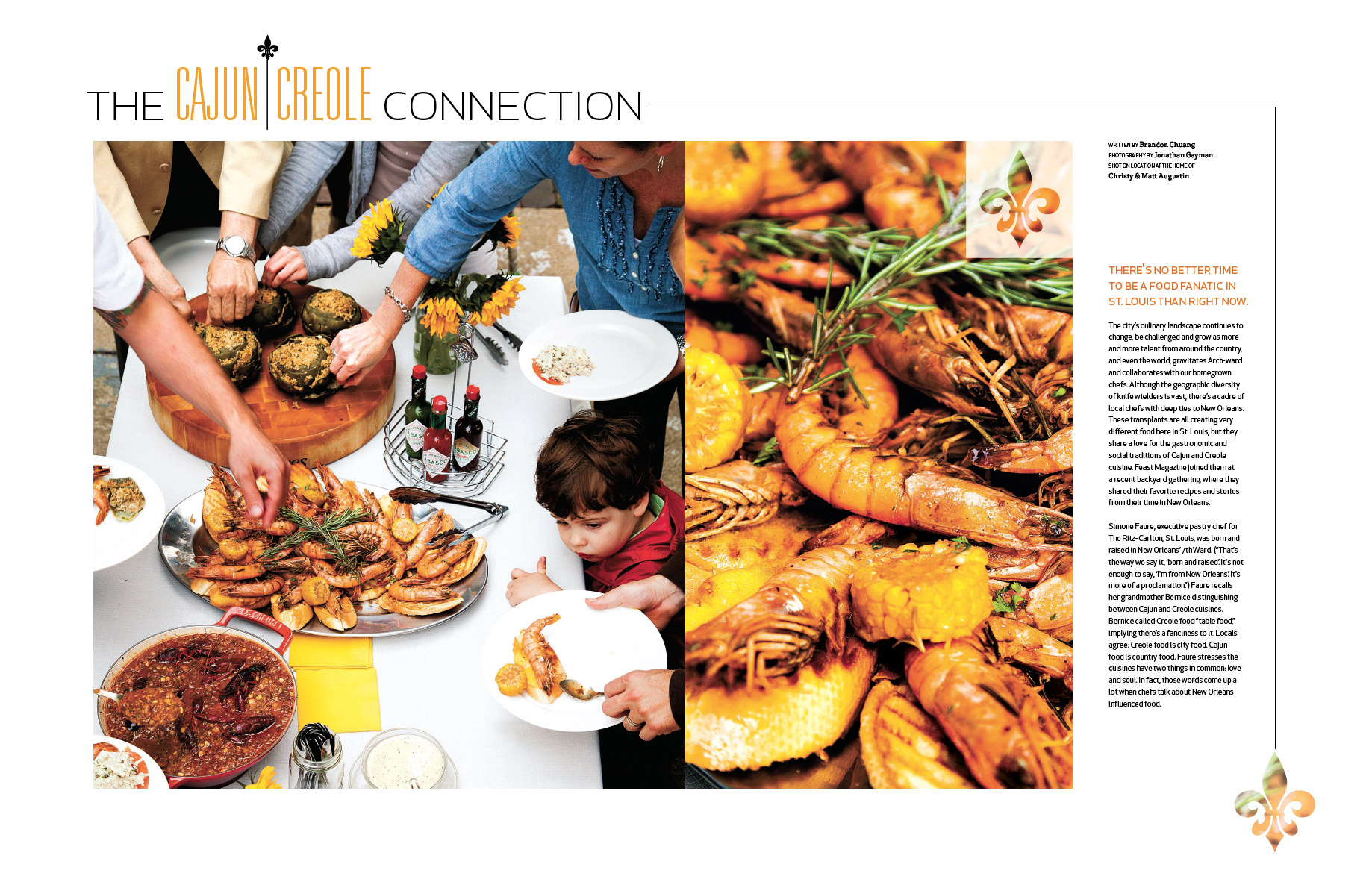 Tear Sheet of the June 2012 Issue of Feast Magazine