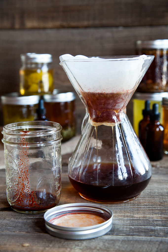 Filtering Chili Extract