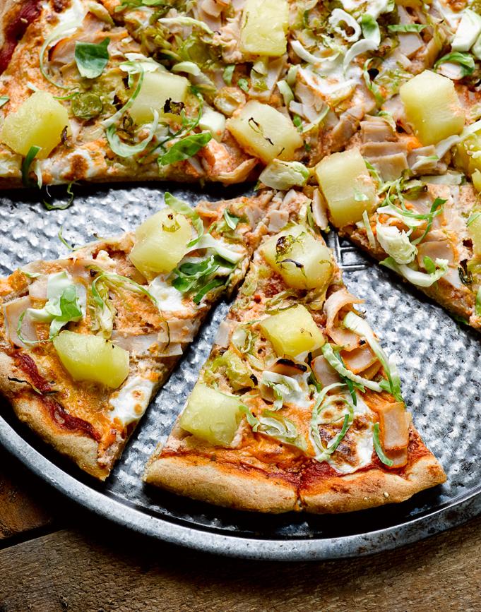 Healthy Hawaiian Pizza