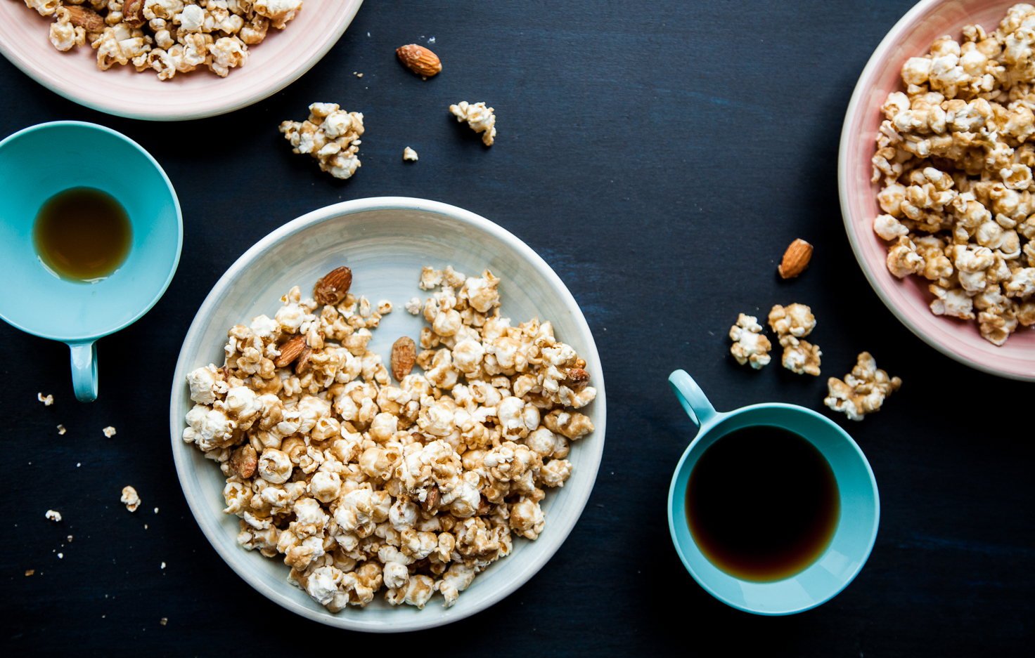 Caramel Corn with Almonds