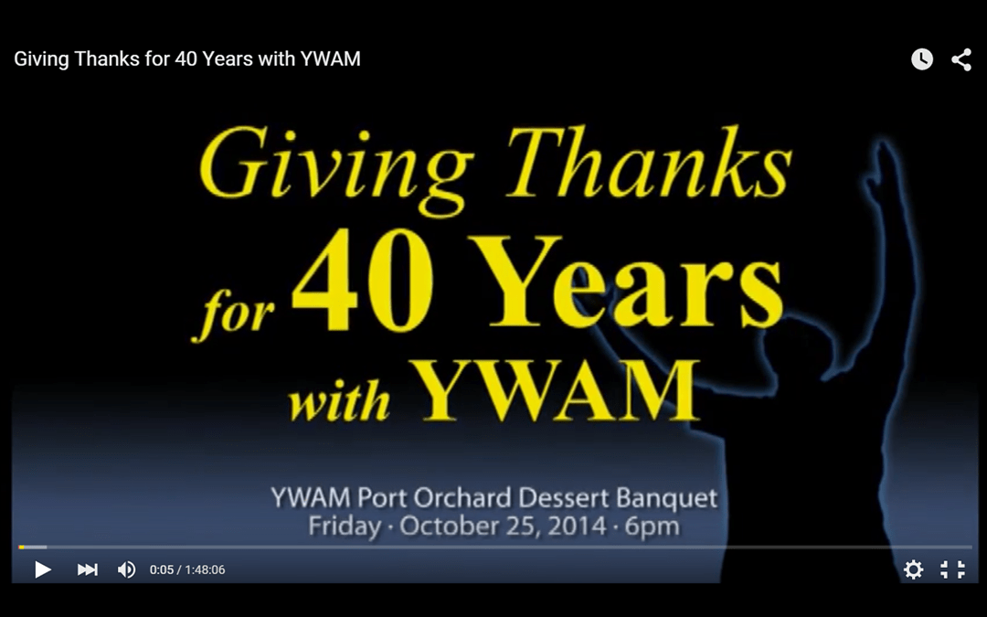 Ron Boehme & YWAM Tribute Video