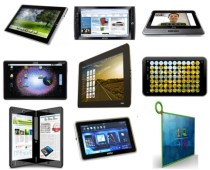 different make and models of tablet devices