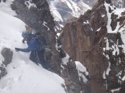 """Bjorn topping out on the first """"tricky"""" bit"""